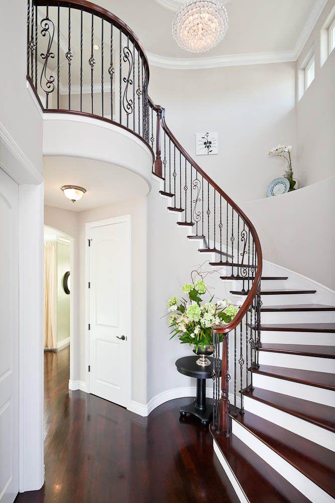 Best Entry Stairs Dark Tread White Risers Closet Under Stair 400 x 300
