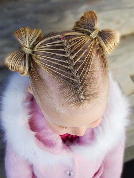 55 Gorgeous Feathered Dutch Braid With Bows For Kids 2018 Sac Ve