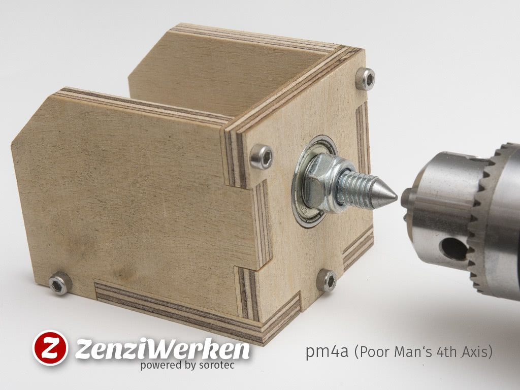 Poor Man S 4th Axis Cnc By Zenziwerken Thingiverse Diy Lathe Diy Cnc Router Lathe