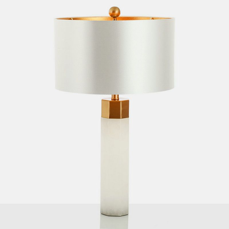 Contemporary Simple Table Lamp Iron Dolomite Table Lamp White Desk Light Table Lamp Lamp White Desk Light