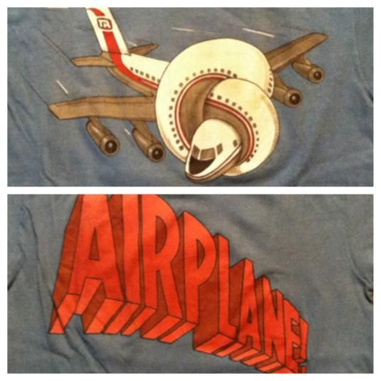 Vintage 1980 Airplane cult classic movie t-shirt