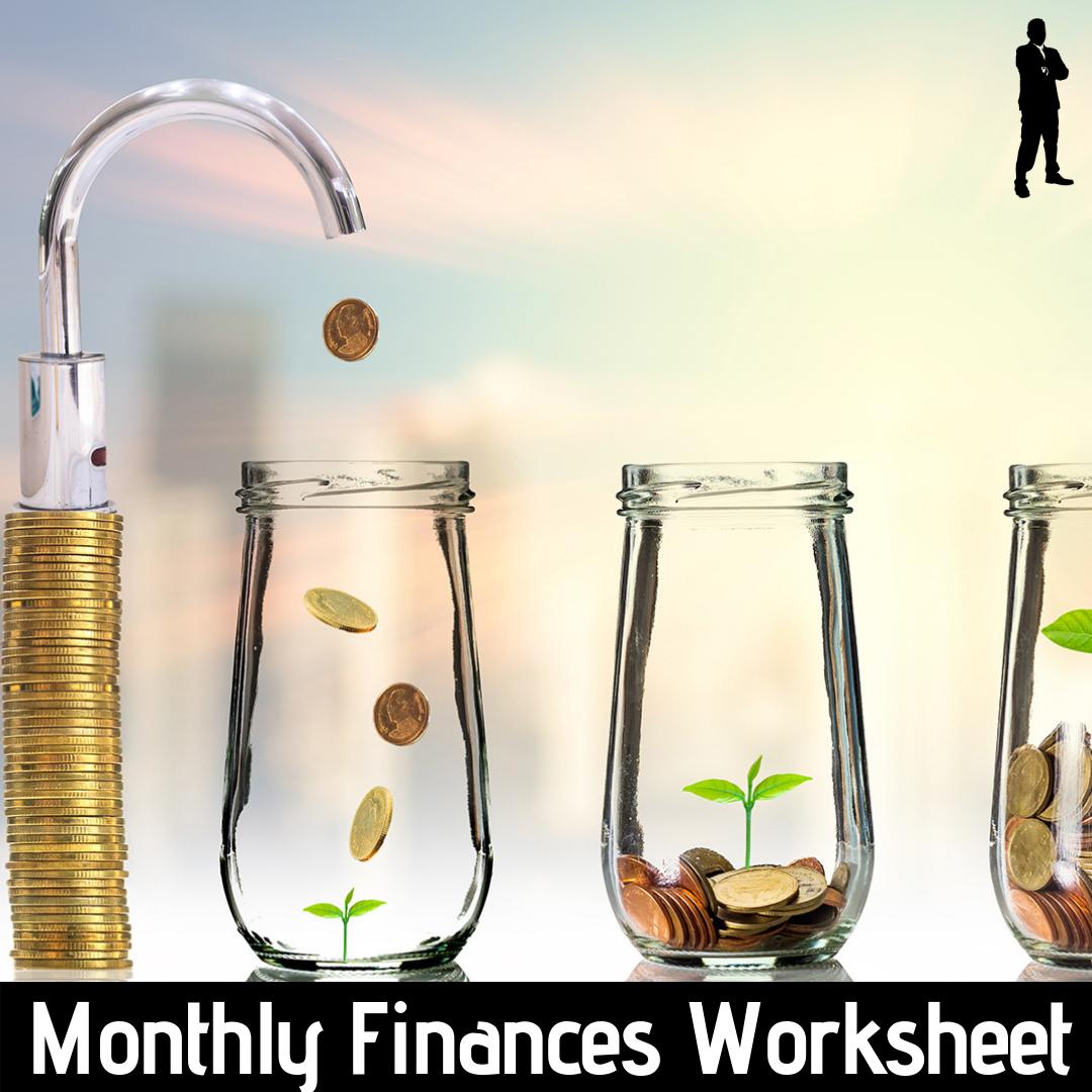 Monthly Finances Worksheet