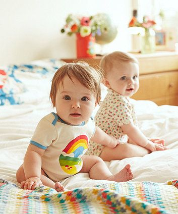 dd72b4a10 Little Bird by Jools Floral and Rainbow Bodysuits - 2 Pack   Future ...