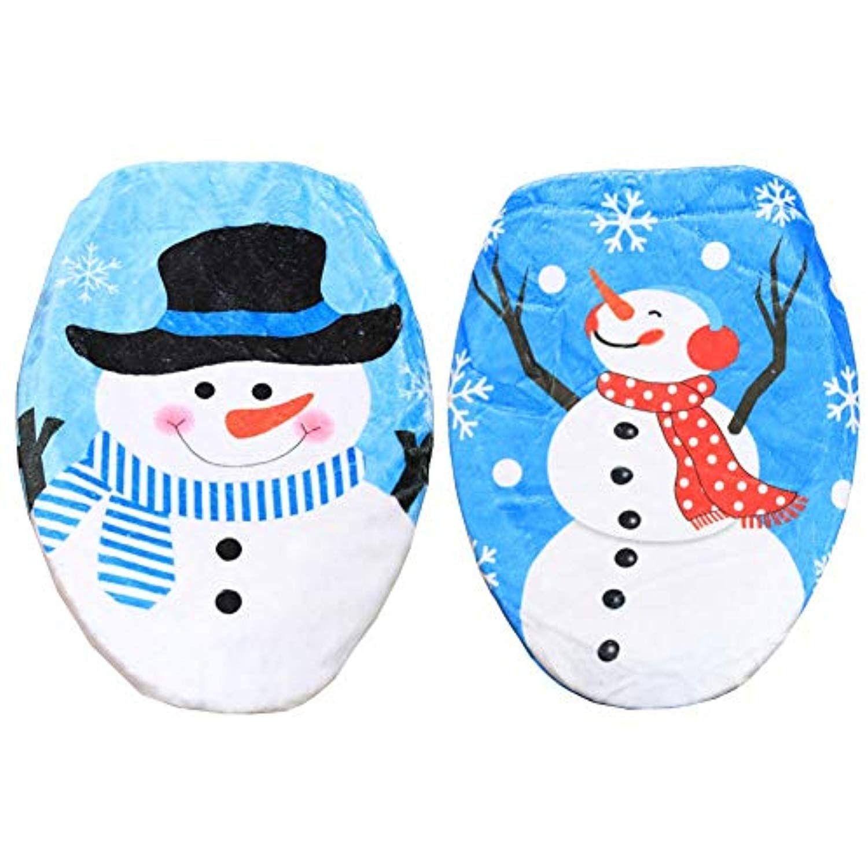 Terrific Forart Christmas Toilet Seat Lid Cover Cartoon Snowman Cjindustries Chair Design For Home Cjindustriesco
