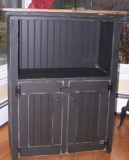 Primitive Kitchen Cabinet Home Decor