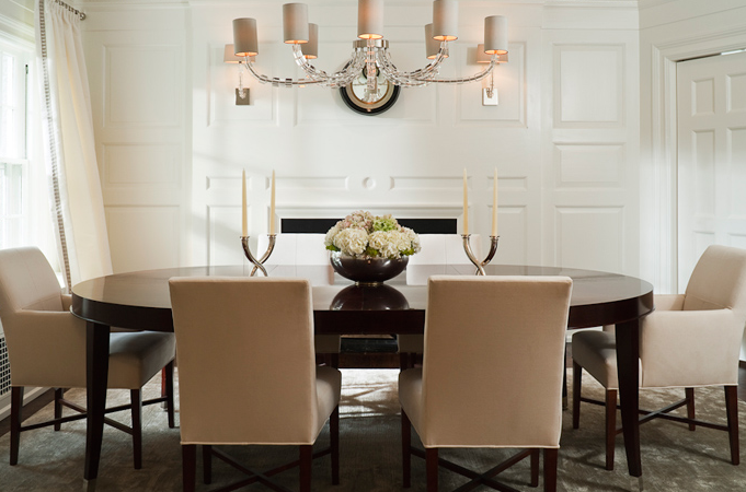 McGill Design Group - dining rooms - espresso, oval, lacquered ...