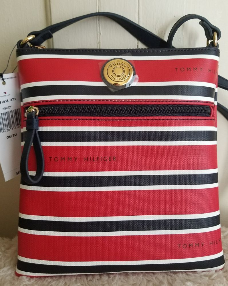 5c01368e4fb Tommy Hilfiger Crossbody Shoulder Bag Red White and Blue Striped # TommyHilfiger #Crossbody