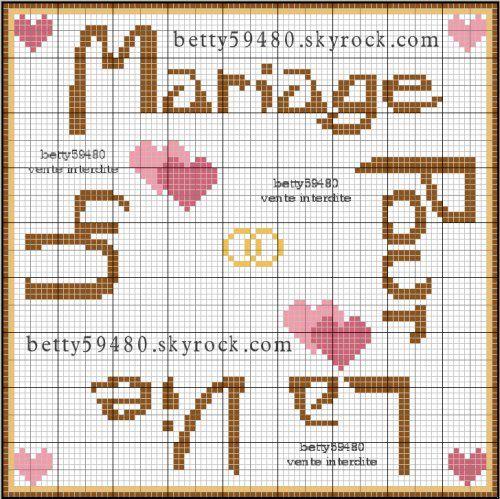 Grillo'tte de Betty | Point de croix mariage, Broderie ...