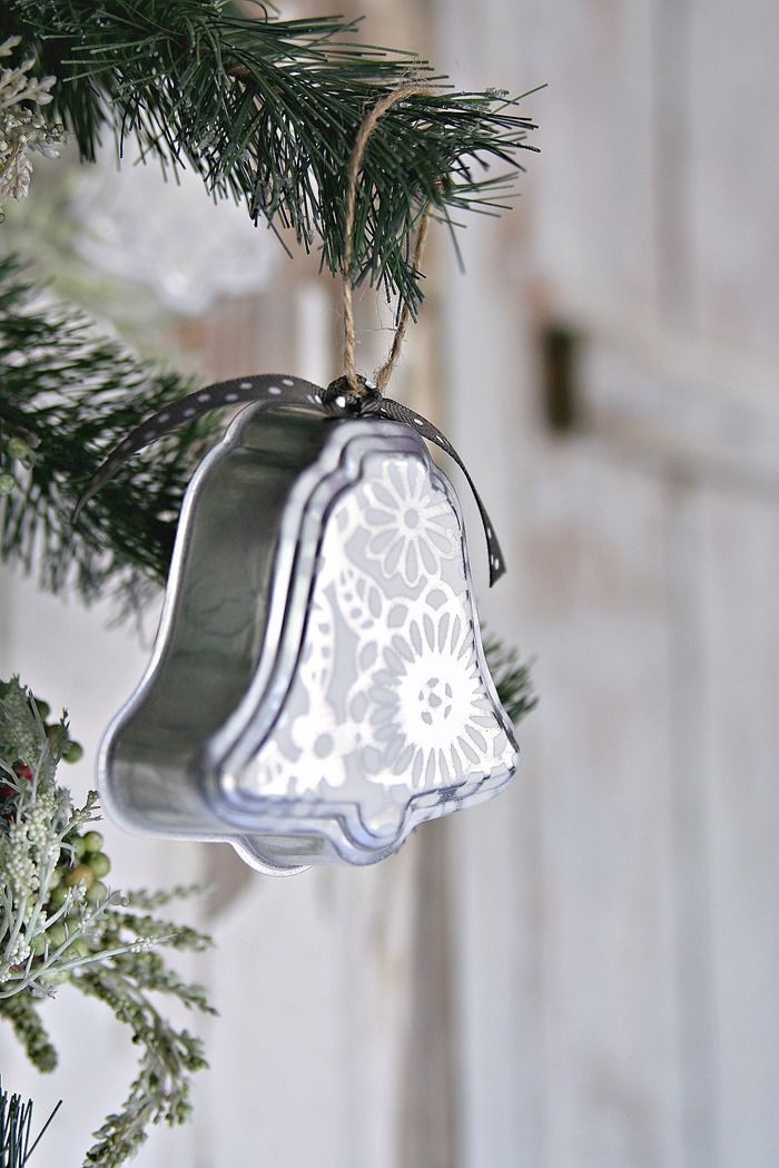 Silver Bells Christmas Decorations Silver Bell Christmas Ornaments Handmade With Love  Jello Molds