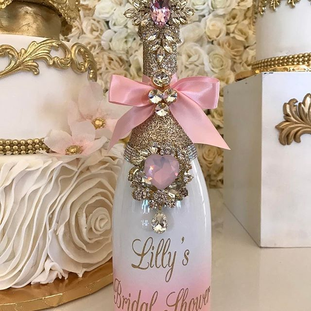 b48932768b2 Lilly Ghalichi s Bridal Shower Bling Memory Bottle created by   champagnebisou for  lillyghalichi her self