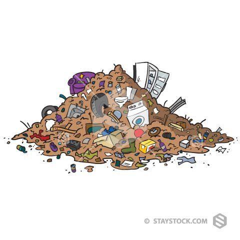 Junk Pile Trash Art Waste Art Environmentalist Art
