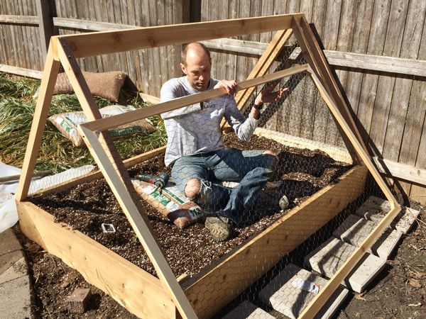 How To Build A Covered Raised Garden Bed Raised Garden Raised