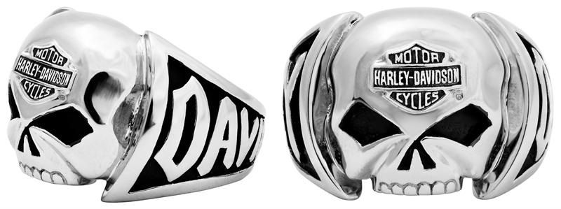 Harley Davidson Skull Ring