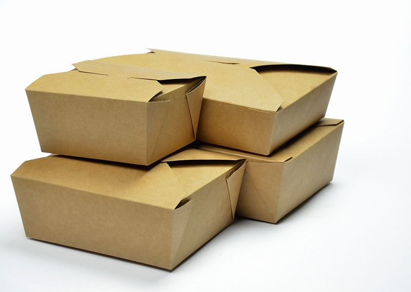 "Eco-Friendly BioPlus Earth Kraft Take-out Boxes.  It goes not get ""greener"" than this. Various sizes available www.simbiousa.com"
