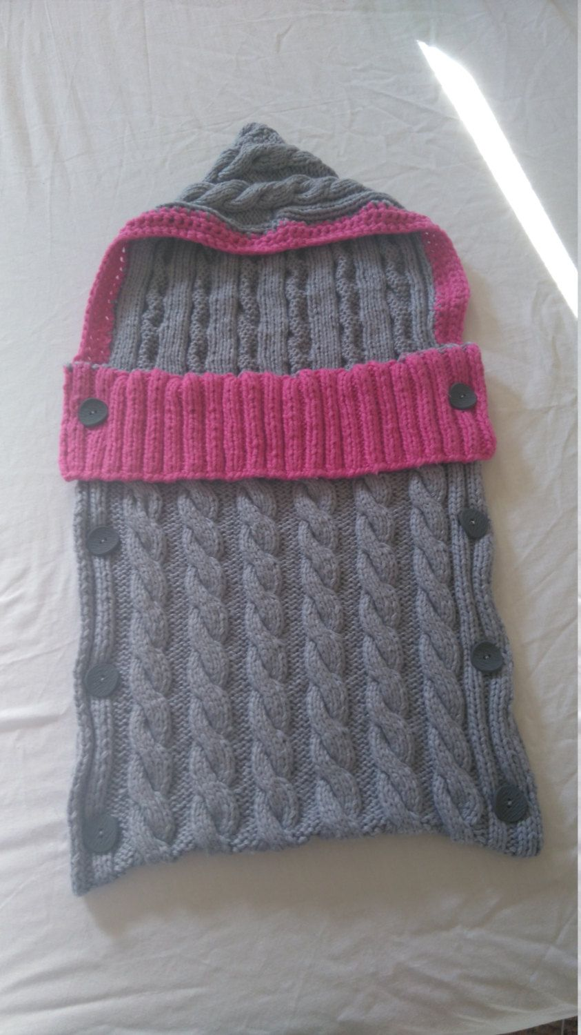 Cable Knit Baby Sleeping Bag Pattern by TheQuiltedWeaver on Etsy ...