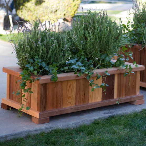 Patio Furniture Boise: Wood Country Rectangle Cedar Wood Boise Patio Planter Box
