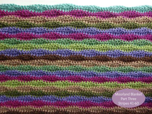 Moorland Blanket Cal Part 3 Blanket Crochet Wave Pattern