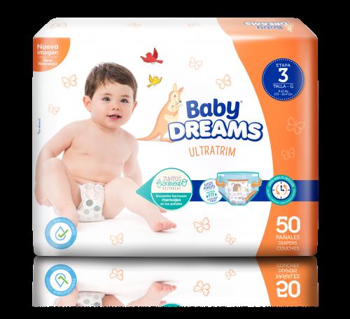 Baby Dreams Ultratrim Etapa 3 G Pañales Diseñados Para Brindarle A Tu Bebé Cuidado Comodidad Y Protección No Esp Pañales Toallitas Húmedas Muñecas De Foamy