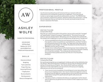 Professional Resumes Templates Professional And Modern Resume Template For Word And Pages