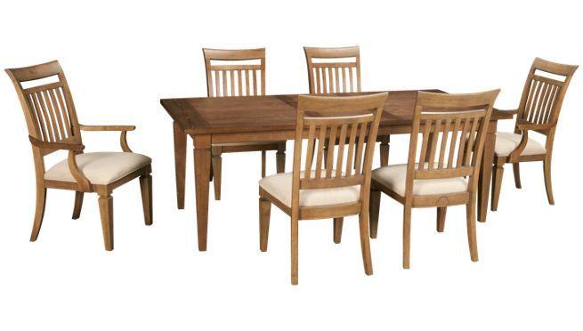 Legacy Brownstone 7 Piece Dining Set Jordan S Furniture 7