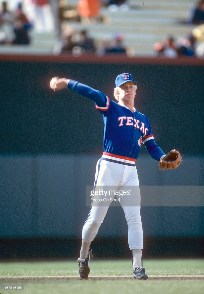 Buddy Bell Of The Texas Rangers Warms Up In Between Innings Against Texas Rangers Baseball Girlfriend Baseball Ticket