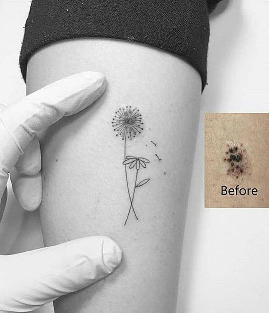 Diente De Leon Margarita Flores Diente De Leon Tatuaje Tatuajes Minimalistas Tatuaje Tobillo Mujer