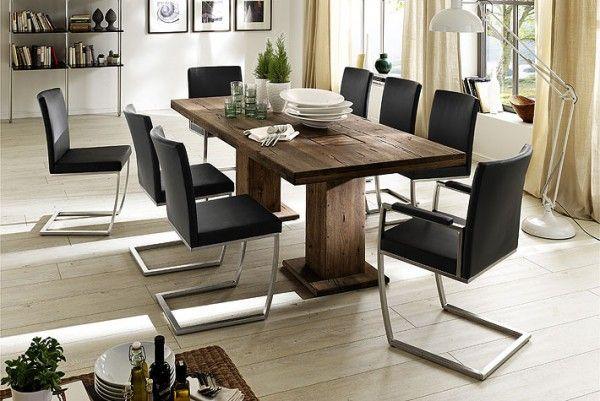 MCA Furniture Esstisch Manchester Eiche massiv Holzgebildungen - esszimmer eiche massiv