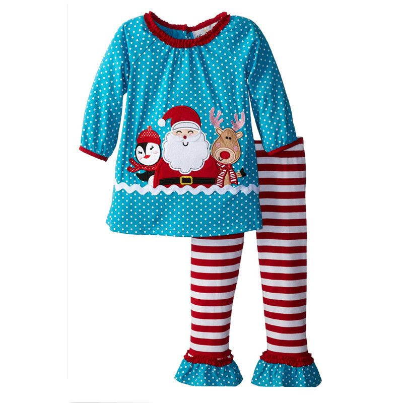0cd263fd93b3 Click to Buy    Christmas Baby Girls Toddlers Santa Clause Polka ...