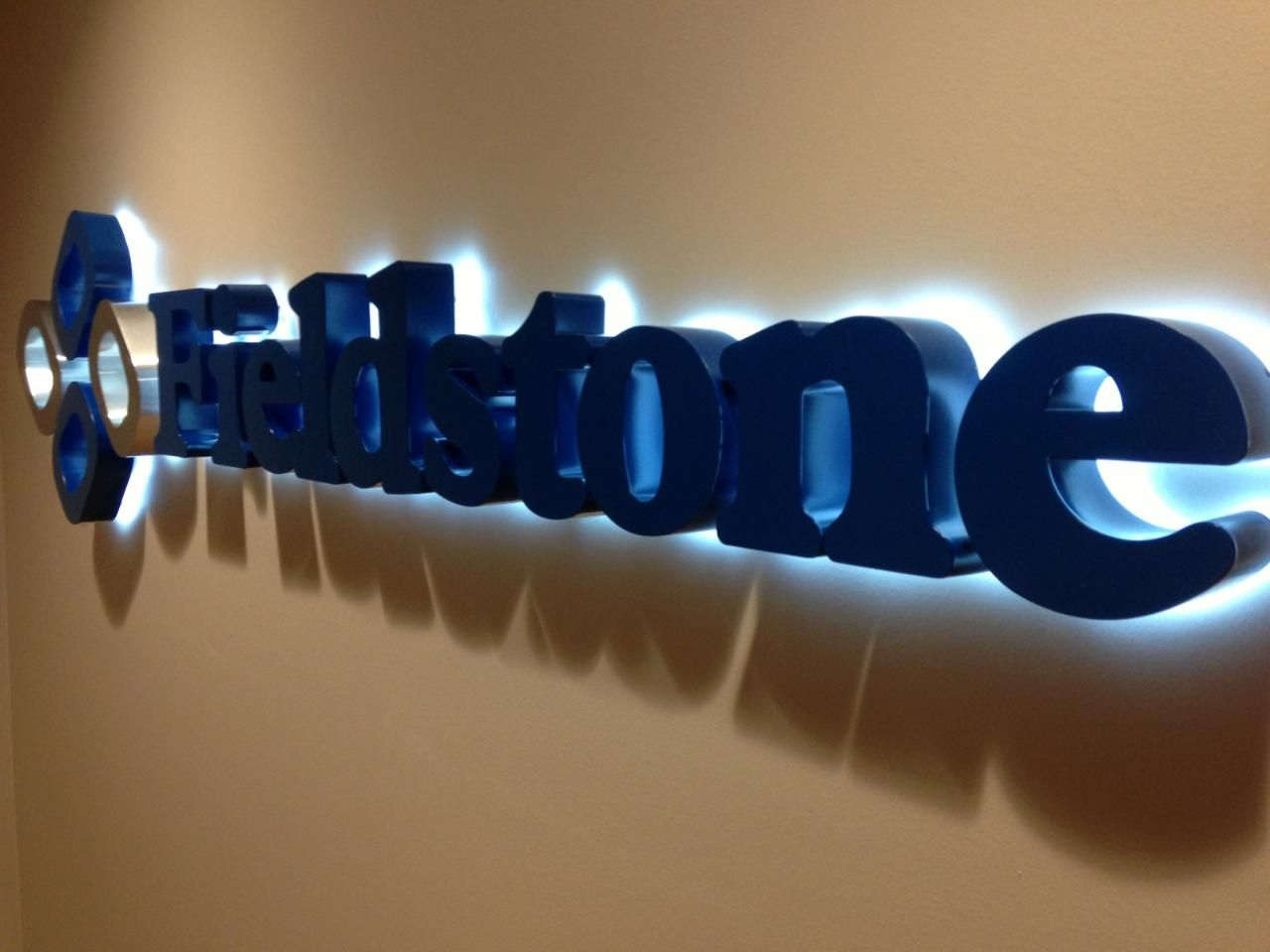 Halo lit wall mounted channel letters 11