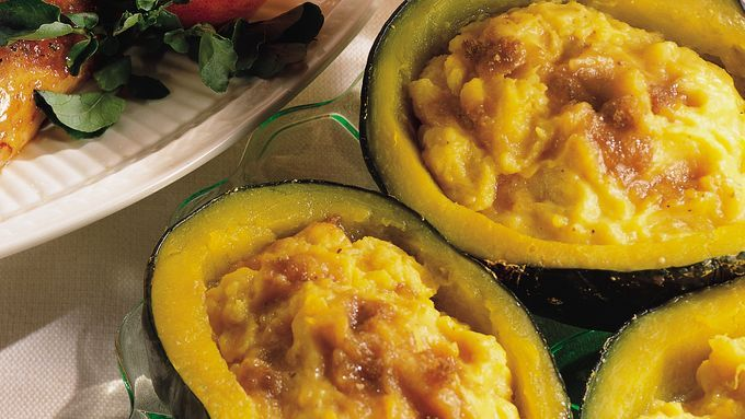 Twice Baked Squash Recipe Baked Squash Buttercup Squash Cooking Recipes
