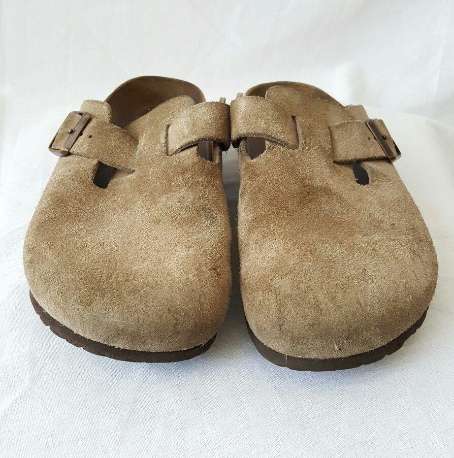 Birkenstock Women's Slip On Beige Suede Sandals Size 41 (10-10.5) #Birkenstock #Mules #Casual