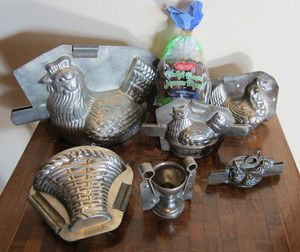antique chicken molds for chocolate