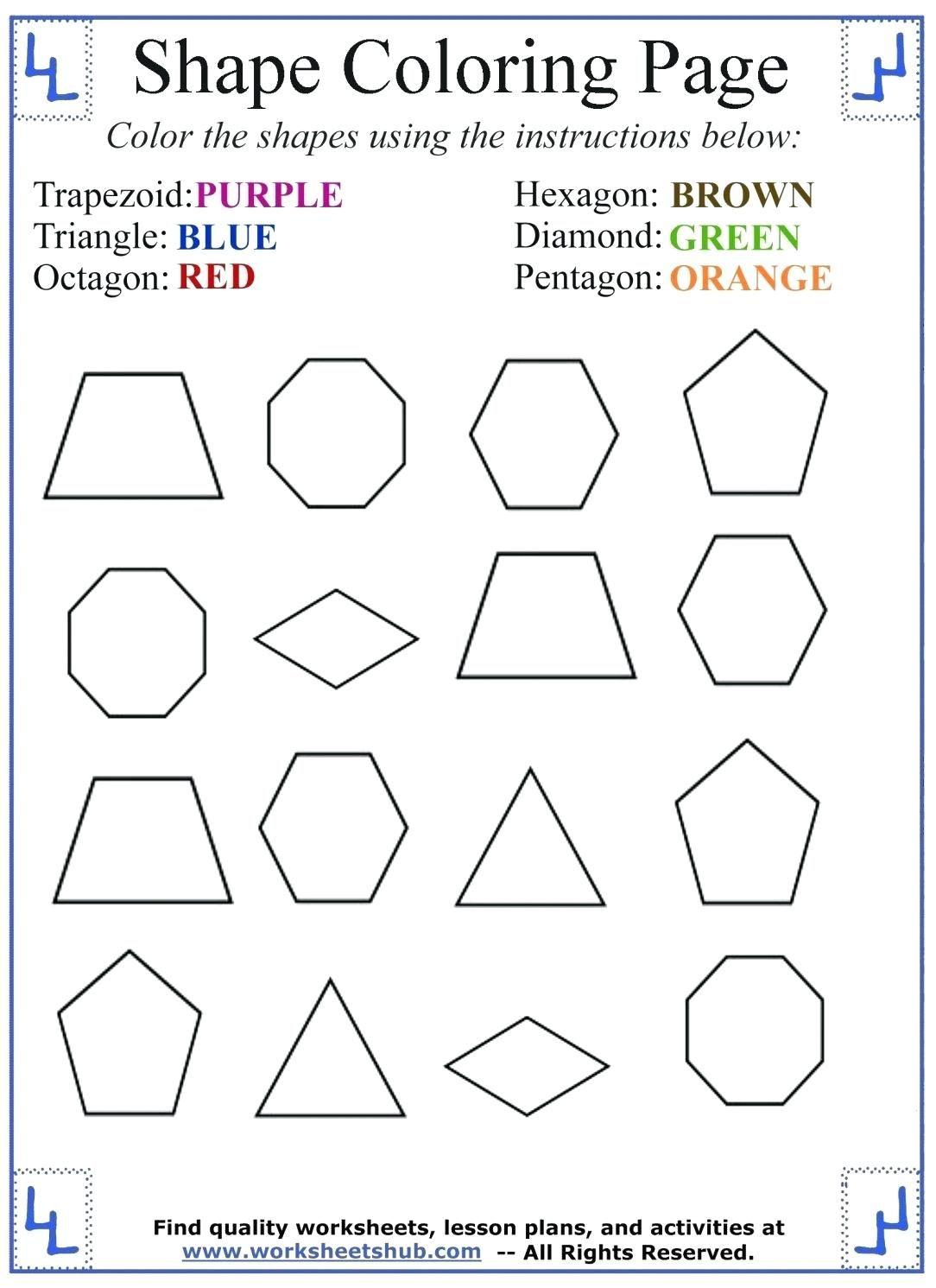 Shapes Coloring Pages Coloring Pages Shapes Coloring