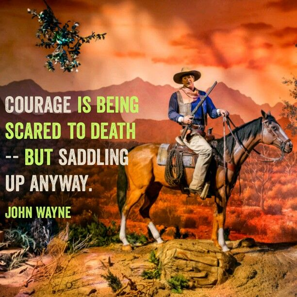 Courage is being scared but doing it anyway.