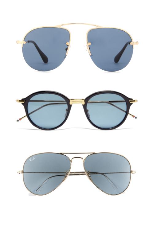 4e5c12d3b6c Blue-shades-Prada-aviators-Ray-Ban-Pilot-sunglasses-