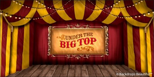 Circus Backdrops For Rent | Circus 8B Big Top Backdrop | Backdrops Beautiful : circus tent top - memphite.com