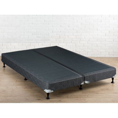 WAYTON, 4-inch Fully Assembled Split Wood Box Spring/foundation and Frame For Mattress / 74x48 (Not Standard Size) / Grey And White Color - Walmart.com