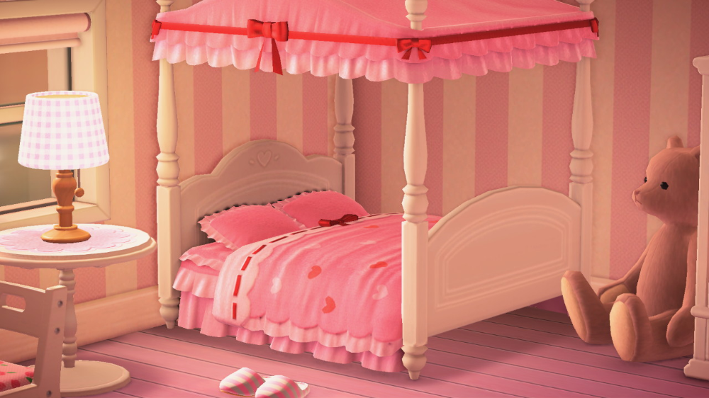 Celeste On Twitter Animal Crossing Pink House Interior Cute Furniture