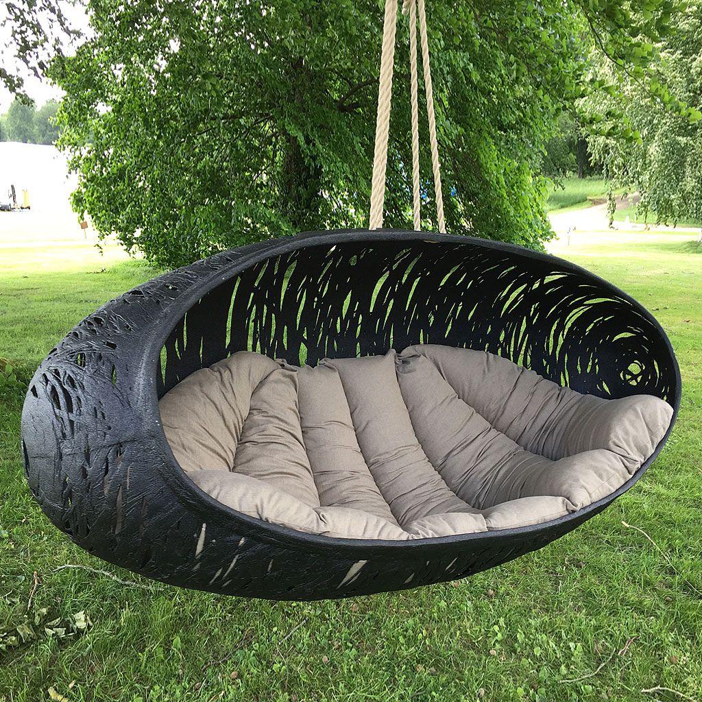 Modern Garden Swing Seat  BIOS ALPHA Luxury Hanging Nest  9 Seat