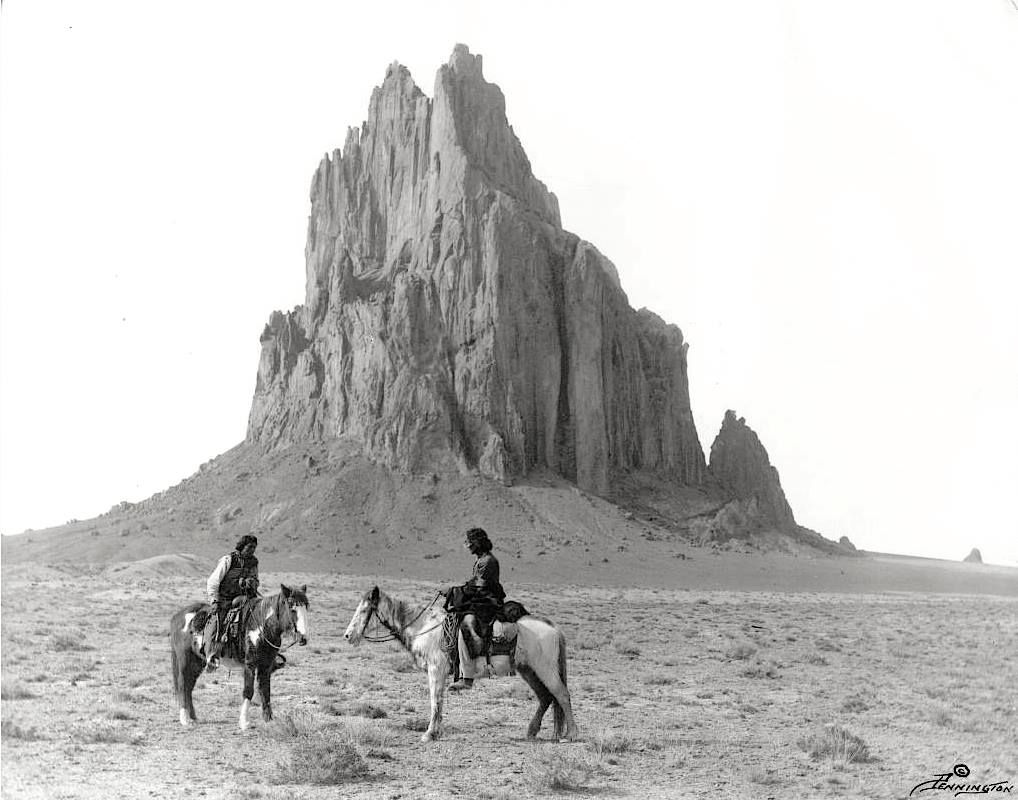 Image result for navajo indian on horse, shiprock new mexico