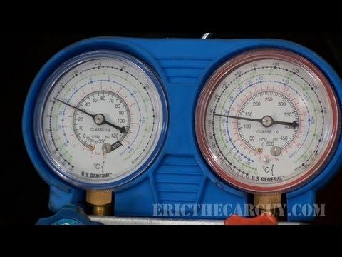 How To Recharge An Ac System Ericthecarguy Auto Ac Repair Ac System Automotive Repair
