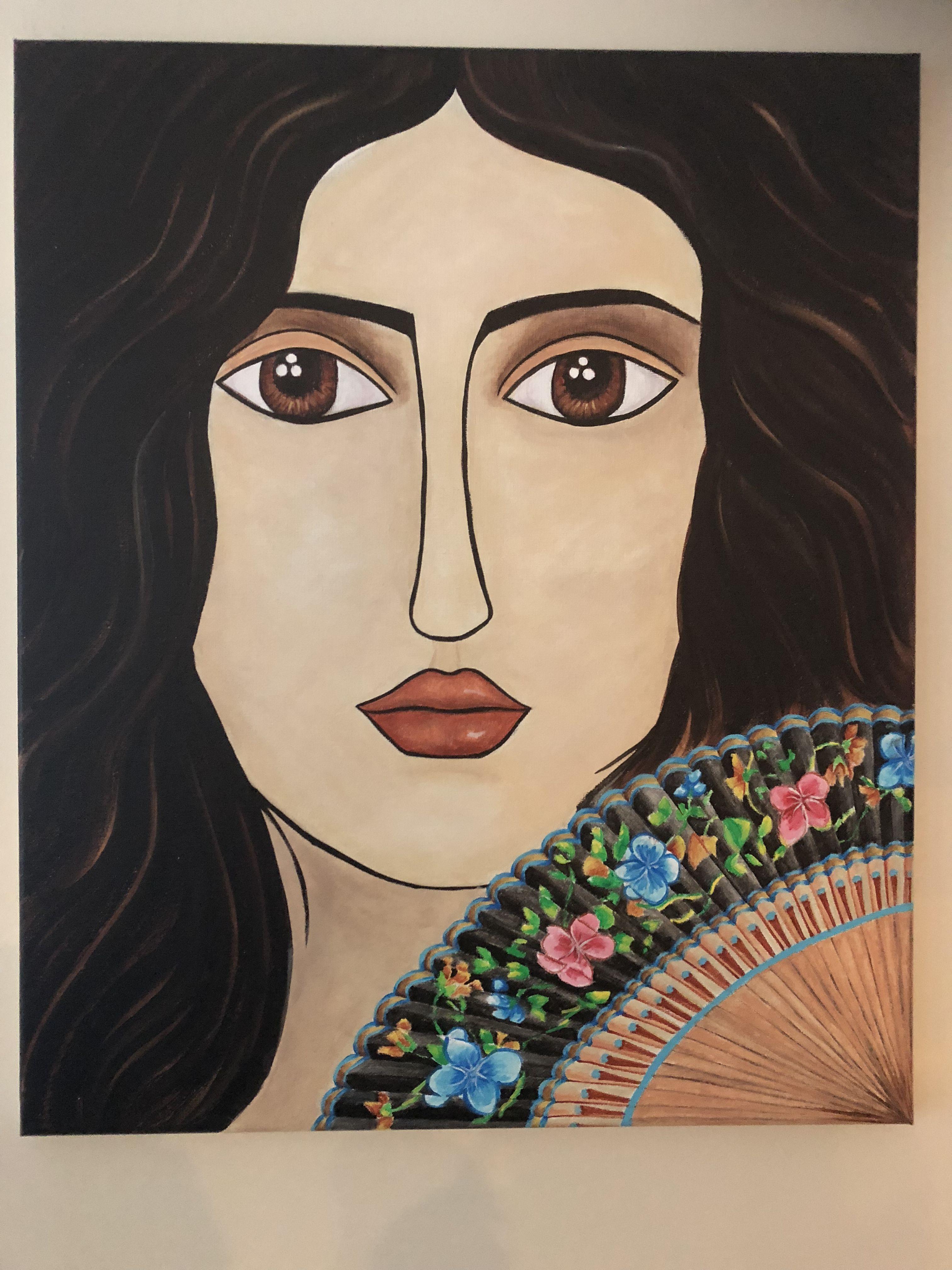 Cubism Art, Spanish Woman. www.