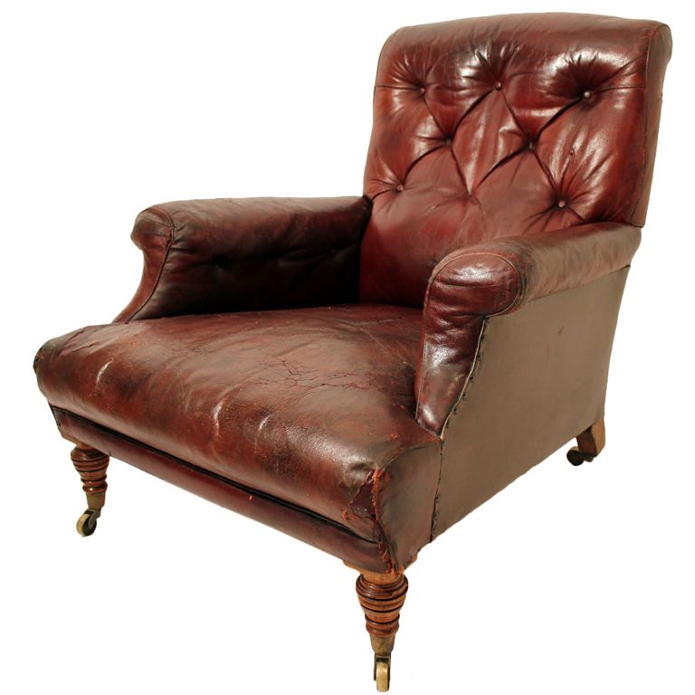 English Gentleman S Leather Library Chair