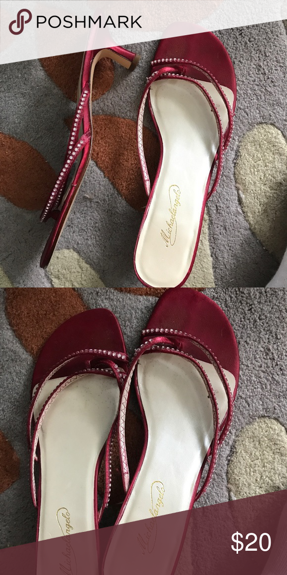 563aad869373fd Red high heels Red high heels with jeweled accents. Worn no more than three  times Shoes Heels