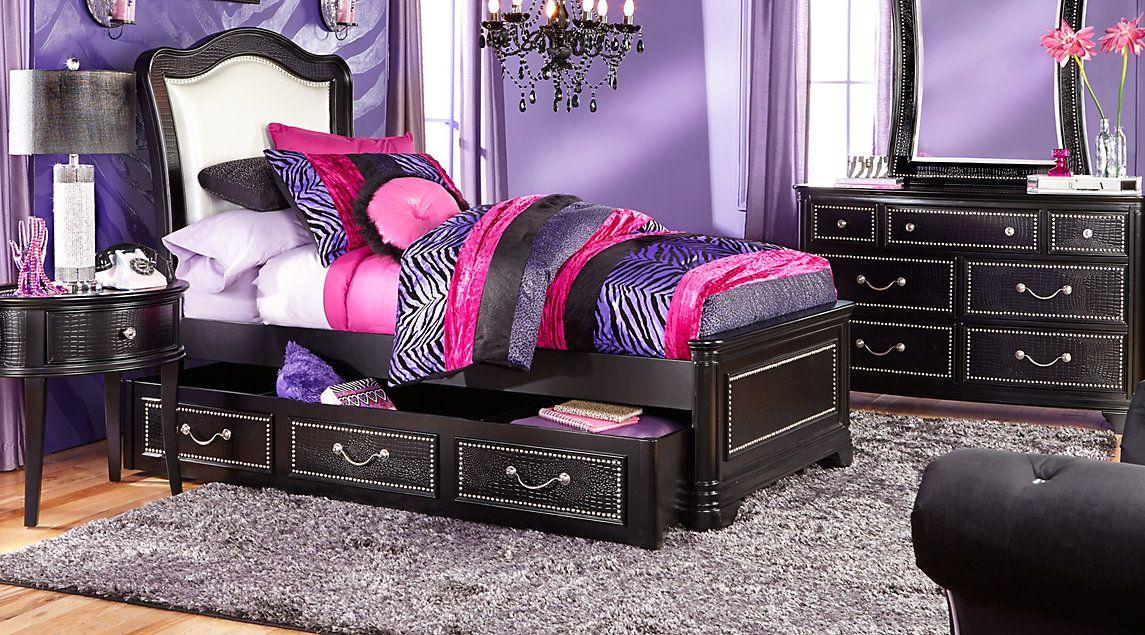 Affordable Panel Twin Bedroom Sets - Girls Room Furniture ...