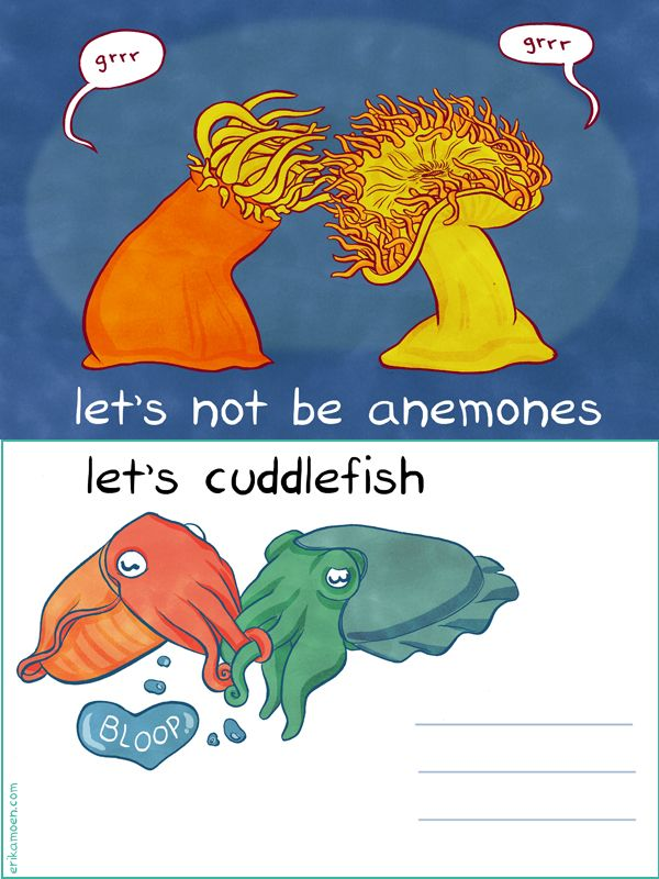 Ocean humor and flitting: Lets not be anemones  Let's