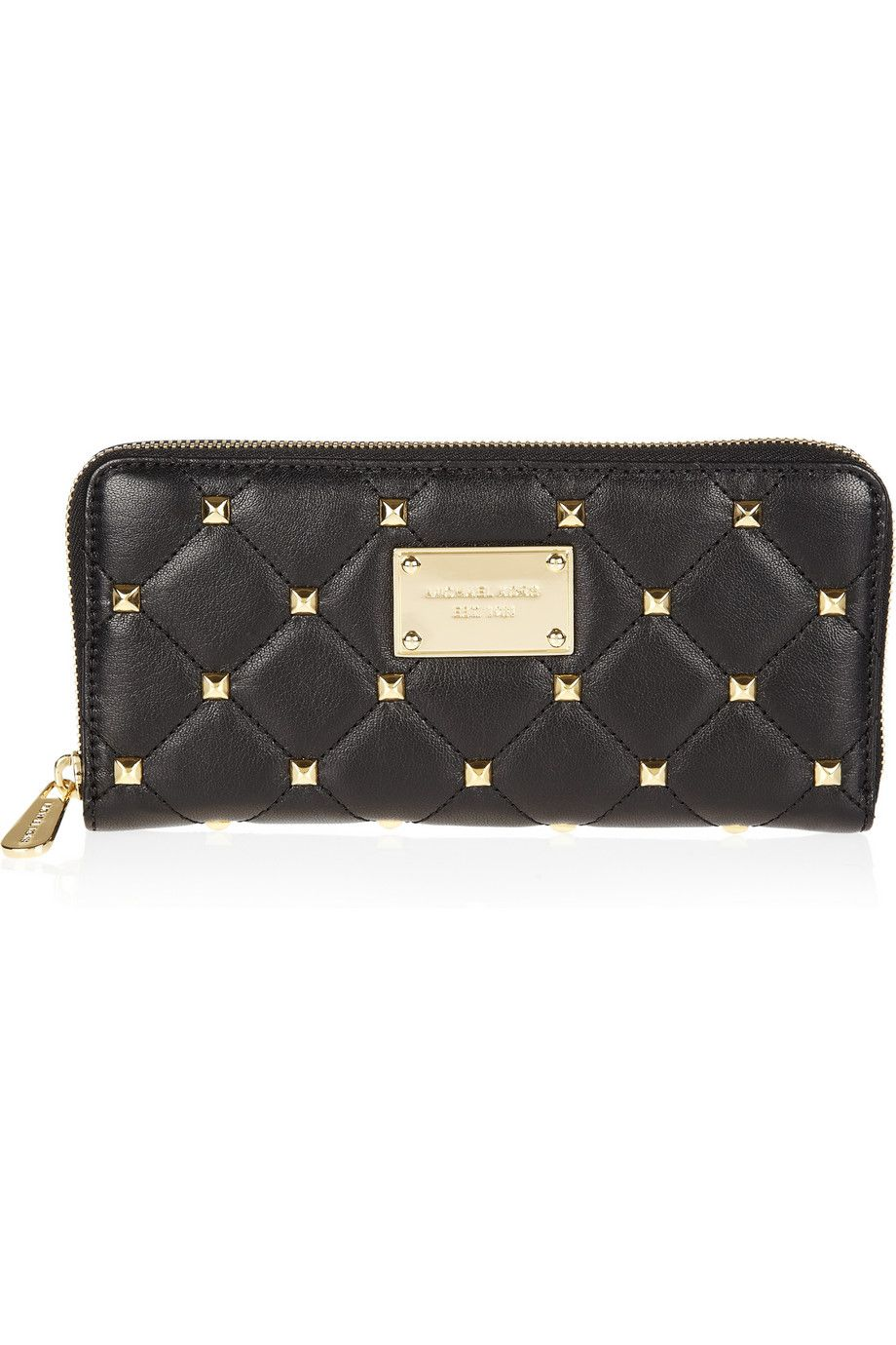 michael michael kors studded quilted leather continental wallet rh pinterest com