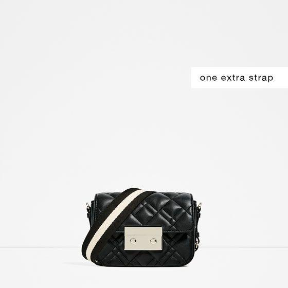 Zara Woman Double Look Quilted Mini Crossbody Bag