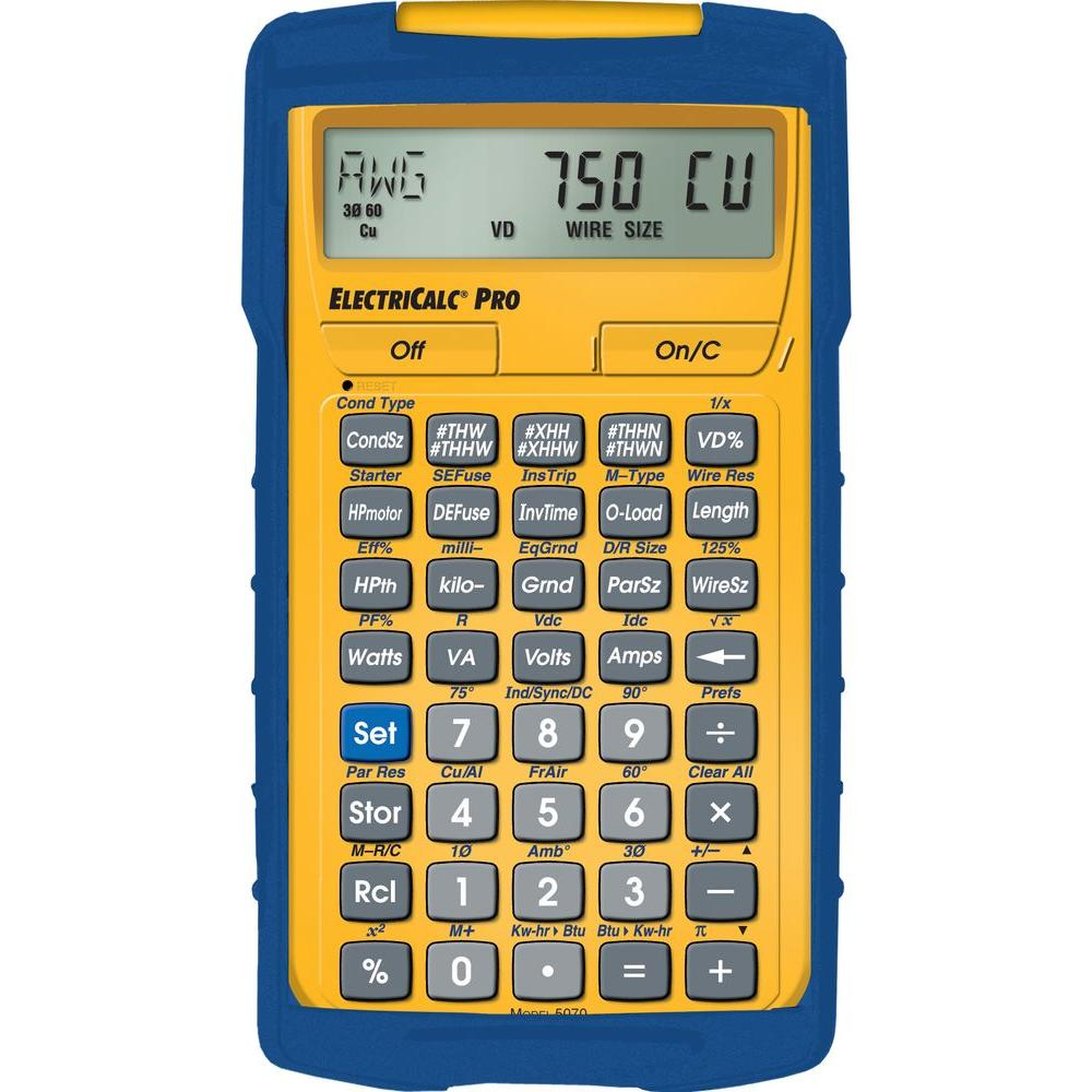 Calculated Industries Electricalc Pro Calculator 5070 Electrical Code Calculator Design Electrical Calculator