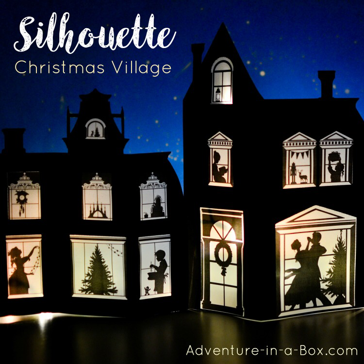 Silhouette Christmas Village Printable Template